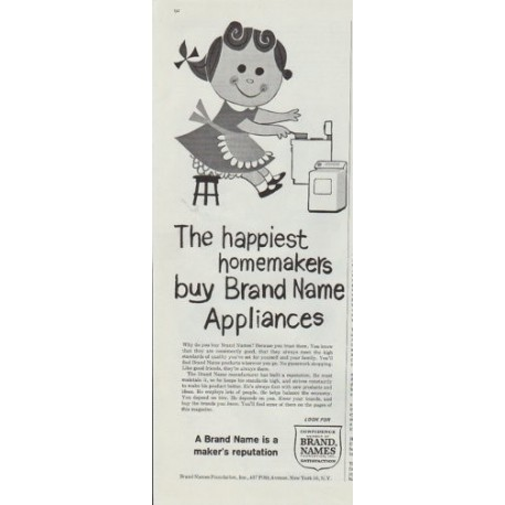 """1961 Brand Name Appliances Ad """"happiest homemakers"""""""