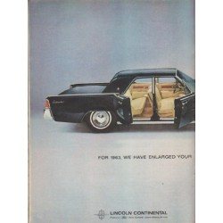"1963 Lincoln Continental Ad ""For 1963"" ~ (model year 1963)"