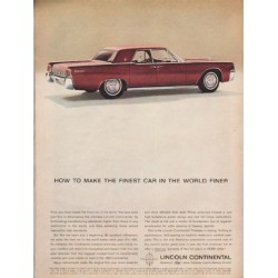 "1963 Lincoln Continental Ad ""the finest car"" ~ (model year 1963)"