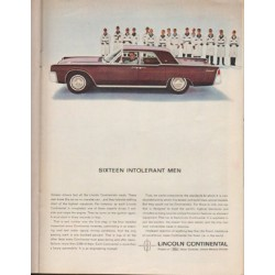"1963 Lincoln Continental Ad ""Sixteen Intolerant Men"" ~ (model year 1963)"