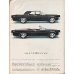 "1963 Lincoln Continental Ad ""Complete Line"" ~ (model year 1963)"