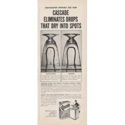 "1961 Cascade Detergent Ad ""Eliminates Drops"""