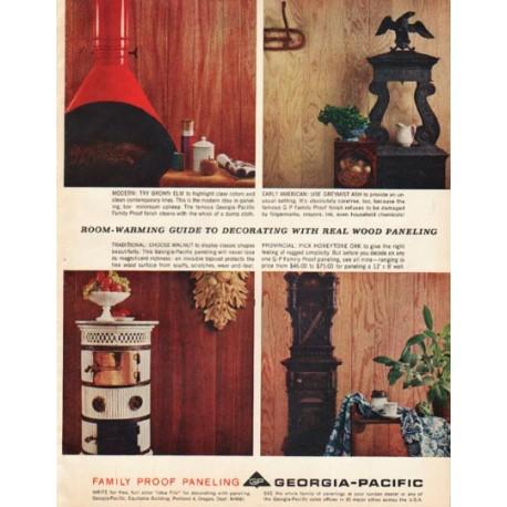 "1961 Georgia-Pacific Ad ""Room-warming guide"""