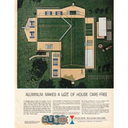 "1961 Alcoa Aluminum Ad ""a lot of house"""