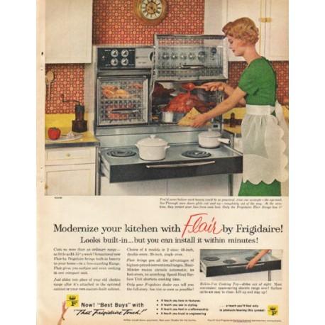 "1961 Frigidaire Ad ""Modernize your kitchen"""