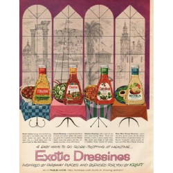 "1961 Kraft Ad ""Exotic Dressings"""