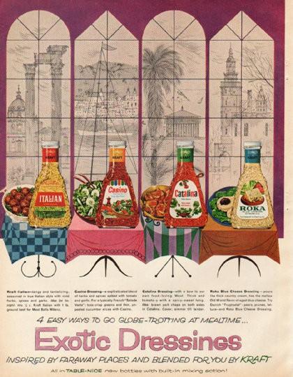 1961 Kraft Vintage Ad Quot Exotic Dressings Quot