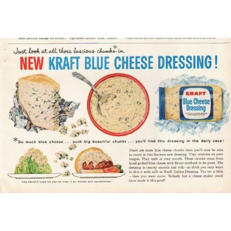 "1961 Kraft Ad ""Kraft Blue Cheese Dressing"""