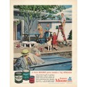 "1961 Benjamin Moore Ad ""A little MOORE paint"""