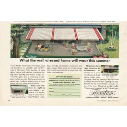 "1961 Flexalum Ad ""well-dressed home"""