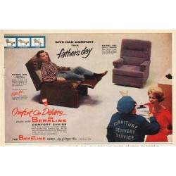 "1961 Berkline Chairs Ad ""Give Dad Comfort"""