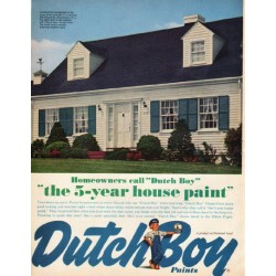 "1961 Dutch Boy Ad ""the 5-year house paint"""
