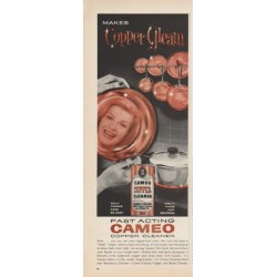 "1961 Cameo Copper Cleaner Ad ""Makes Copper Gleam"""