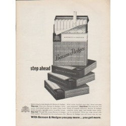 "1962 Benson & Hedges Cigarettes Ad ""step ahead"""