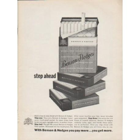 "1962 Benson & Hedges Cigarettes Ad ""step ahead"""