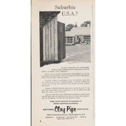 "1962 National Clay Pipe Institute Ad ""Suburbia"""