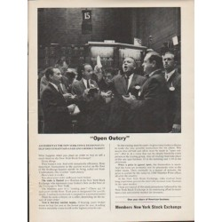 "1962 Members New York Stock Exchange Ad ""Open Outcry"""