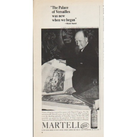 """1962 Martell Cognac Ad """"The Palace of Versailles"""""""