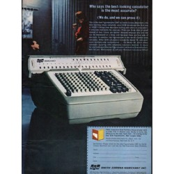 "1962 Smith-Corona Ad ""the best-looking calculator"""