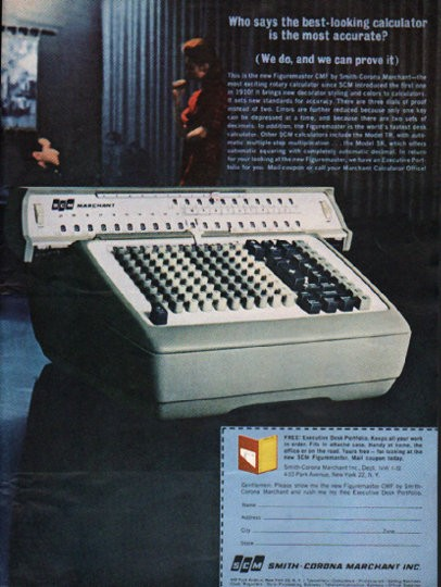 1962 Smith Corona Vintage Ad Quot The Best Looking Calculator Quot