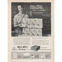 "1962 Mail-Well Envelopes Ad ""speed up packaging"""