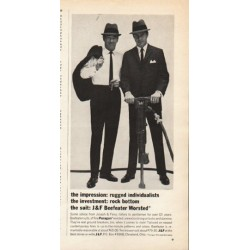 "1962 Joseph & Feiss Ad ""the impression"""