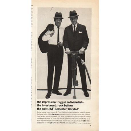 "1962 Joseph & Feiss Ad ""the impression"""