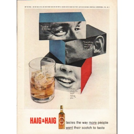 "1962 Haig & Haig Ad ""Look at it this way"""
