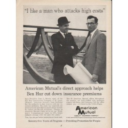 "1962 American Mutual Ad ""attacks high costs"""