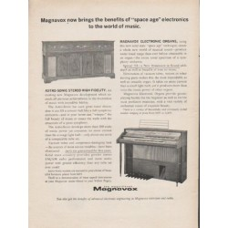 "1962 Magnavox Ad ""space age electronics"""
