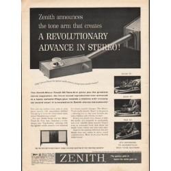 """1962 Zenith Ad """"A Revolutionary Advance"""""""