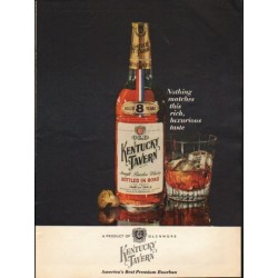 "1962 Kentucky Tavern Ad ""Nothing matches"""