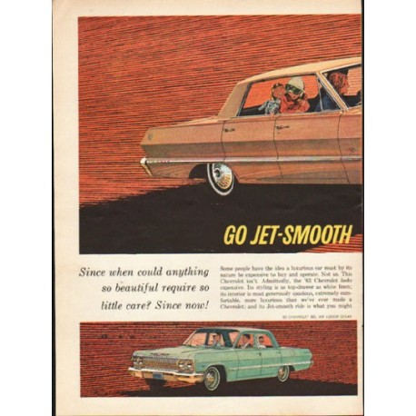 "1963 Chevrolet Ad ""Go Jet-Smooth"" ~ (model year 1963)"