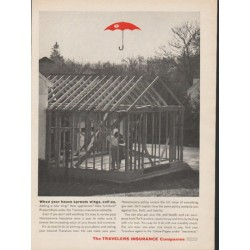 "1962 Travelers Insurance Ad ""When your house sprouts wings"""