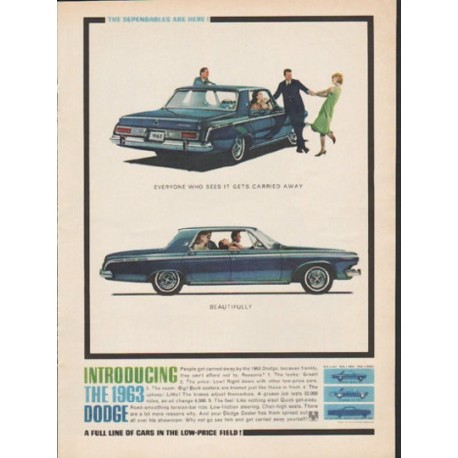 "1963 Dodge Ad ""Everyone who sees it"" ~ (model year 1963)"