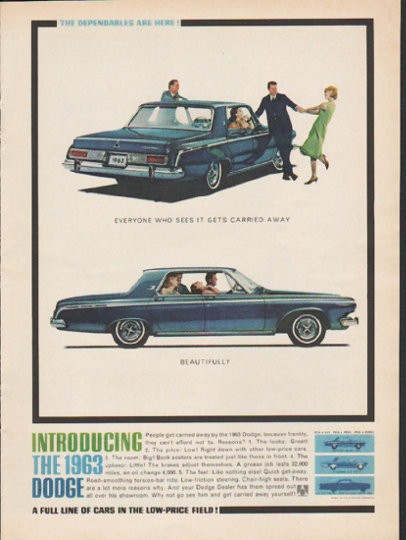 "1963 Dodge Vintage Ad ""Everyone who sees it"" ~ (model year 1963)"