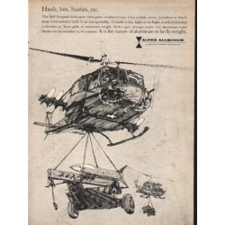 "1962 Alcoa Aluminum Ad ""Hauls, hits, hustles, etc."""