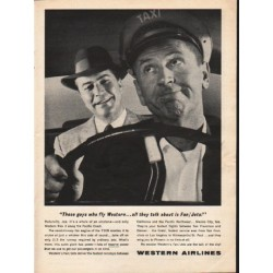 "1962 Western Airlines Ad ""These guys who fly Western"""