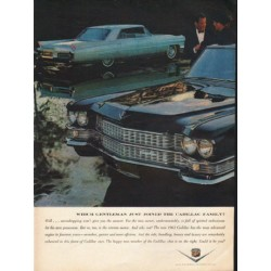 "1963 Cadillac Ad ""Which Gentleman"" ~ (model year 1963)"