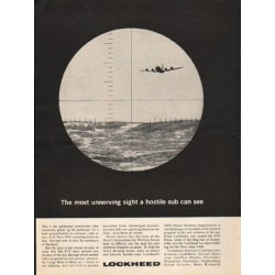 "1962 Lockheed Ad ""The most unnerving sight"""