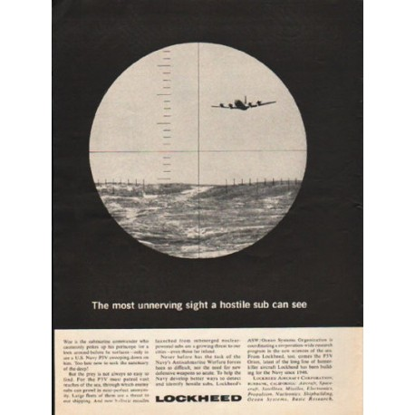 """1962 Lockheed Ad """"The most unnerving sight"""""""