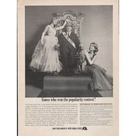 """1962 New York State Ad """"Guess who won"""""""