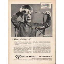 "1962 State Mutual of America Ad ""A Future Engineer"""