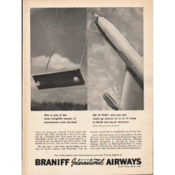 "1962 Braniff International Airways Ad ""17 cities"""