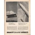 "1962 Braniff International Airways Ad ""17 cities"""