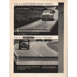 "1962 The Asphalt Institute Ad ""the road requirement"""
