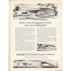 "1962 Butler Manufacturing Company Ad ""lowest price range"""