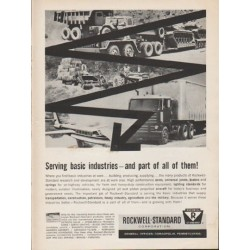 "1962 Rockwell-Standard Ad ""Serving basic industries"""