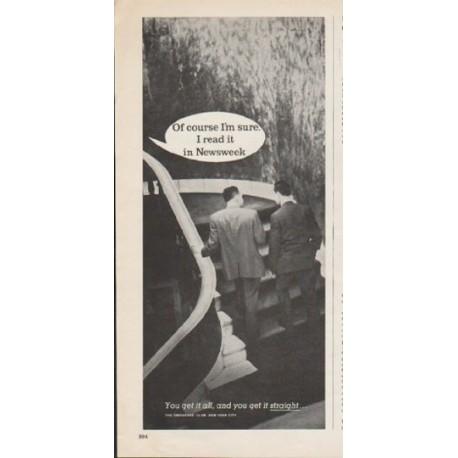 "1962 Newsweek Magazine Ad ""Of course I'm sure"""