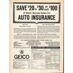 "1962 GEICO Ad ""Save $20 to $30"""